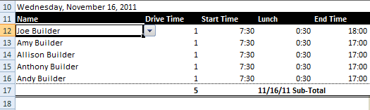 drop-down list in Excel